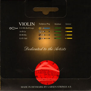 Larsen Il Cannone Violin String Set - Soloist Gauge