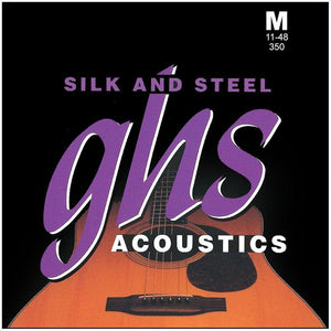 GHS 350 Silk n Steel 11 - 48 Medium Acoustic Guitar String Set