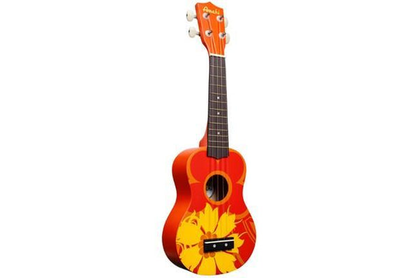 Amahi DDUK5 Soprano Ukulele - Orange Flower