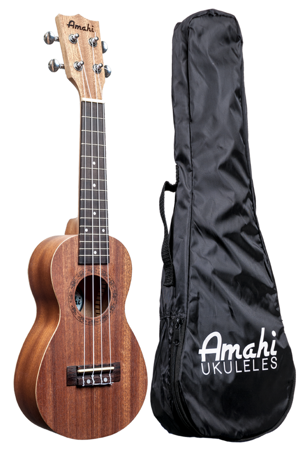 Amahi UK150 Soprano, Peanut Shaped Ukulele