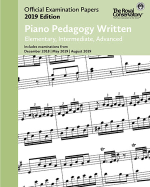 RCM 2019 Official Examination Papers: Piano Pedagogy Written
