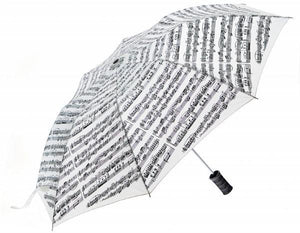 Umbrella with Medium Plastic Handle - White