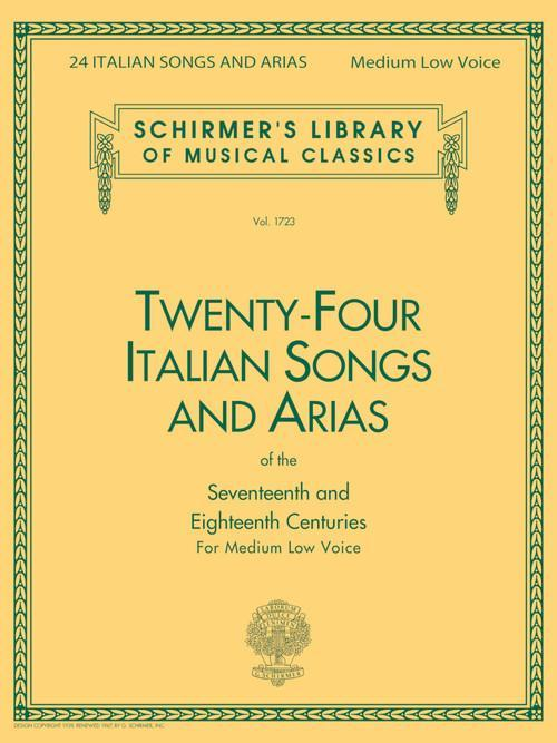 24 Italian Songs & Arias - Medium Low Voice (Book only)