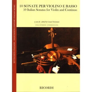 10 Italian Sonatas for Violin and Continuo