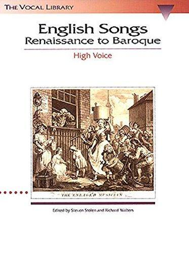 English Songs: Renaissance to Baroque (High Voice)