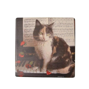 Coaster - Kitten On Piano