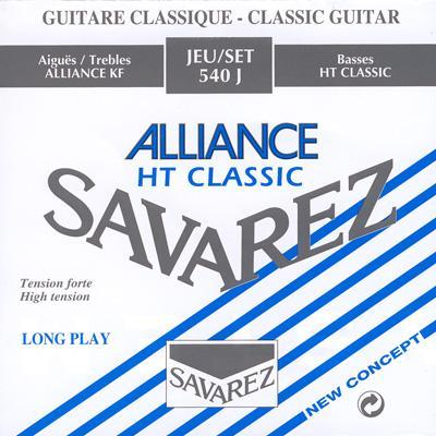 Savarez 540J Alliance Classic Classical Guitar Strings, High Tension