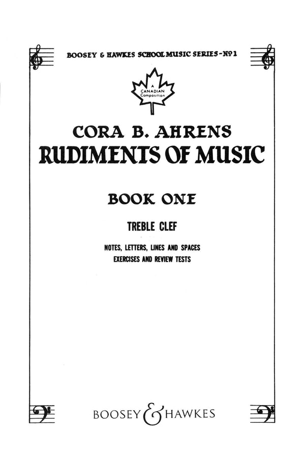 Rudiments of Music - Book 1