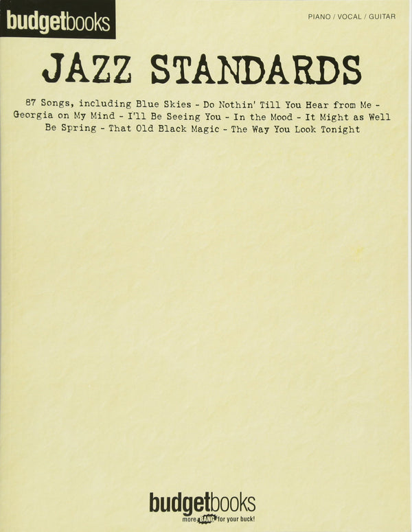 Jazz Standards (Piano/Vocal/Guitar Songbook)