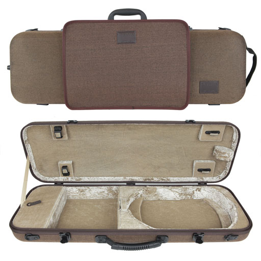Gewa Bio-S Oblong Violin Case with Music Pocket - Brown