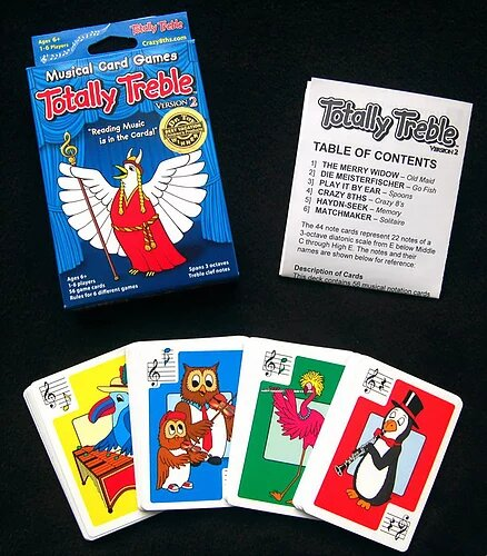 Crazy 8ths Totally Treble Card Game - Single Game