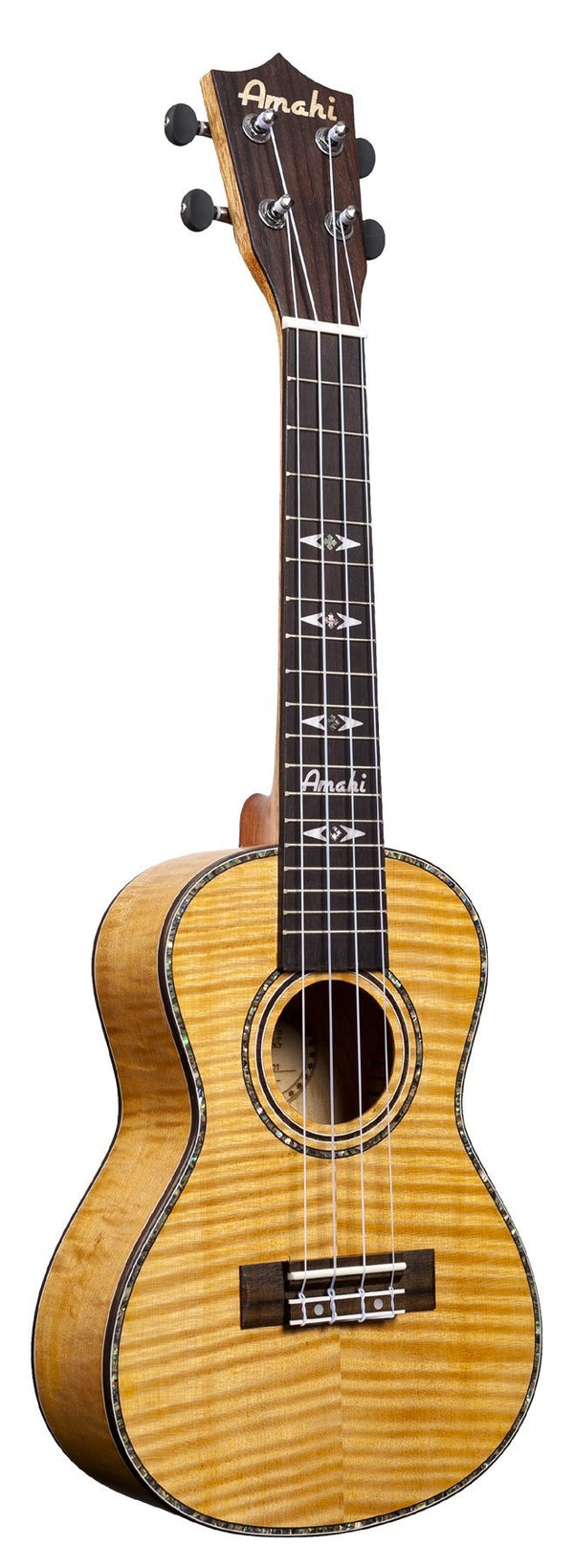 Amahi Flamed Tiger Maple Concert Ukulele C-01