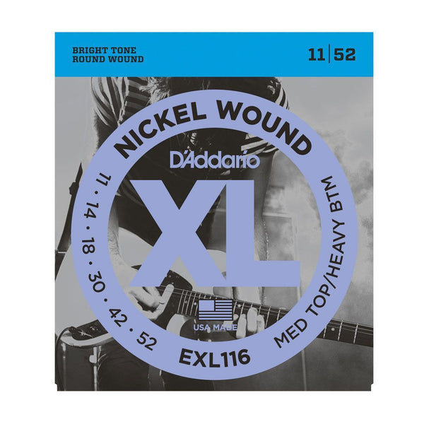 D'Addario EXL116 Nickel Wound Electric Guitar Medium / Heavy 11-52