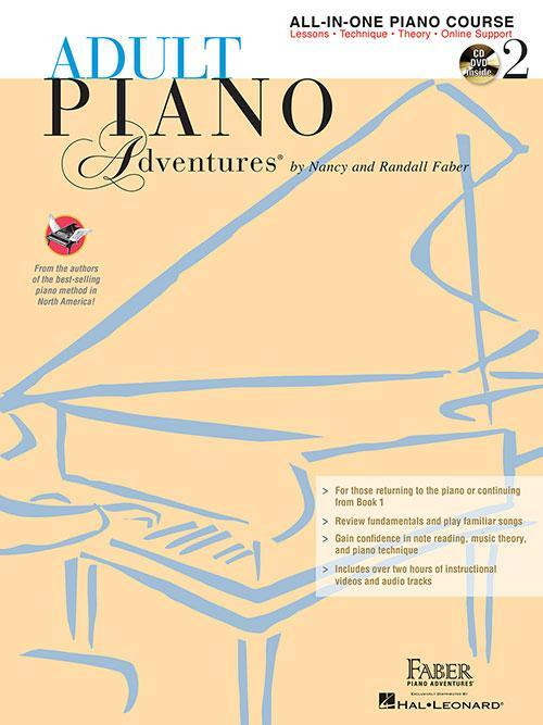 Adult Piano Adventures All-in-One Lesson Book 2 (Book/CD/DVD/Online Support)