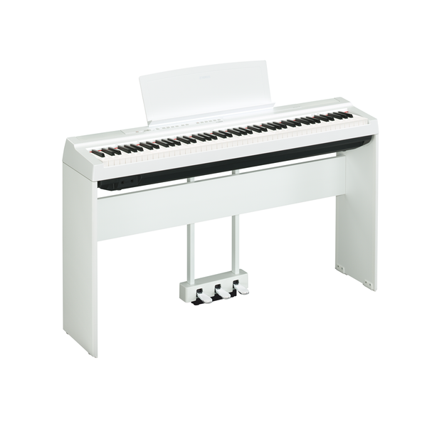 Yamaha P125-White Digital Piano With Stand and Pedal Unit