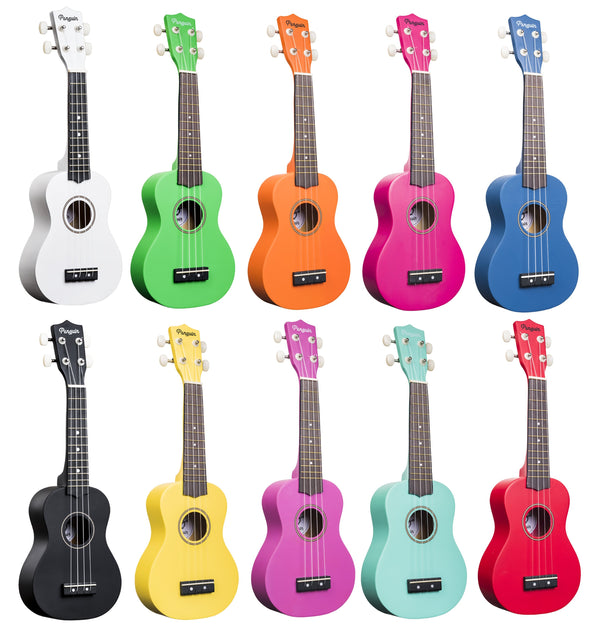 Amahi Penguin Soprano Ukulele - Multiple Colours