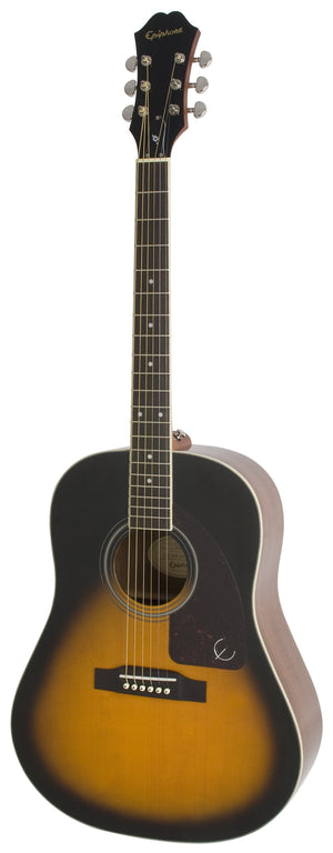 Epiphone AJ-220S Solid Top Acoustic Guitar in Vintage Sunburst