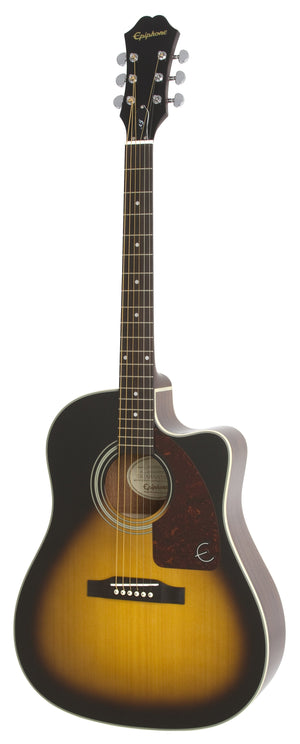 Epiphone AJ-210CE Acoustic Electric Guitar in Vintage Sunburst