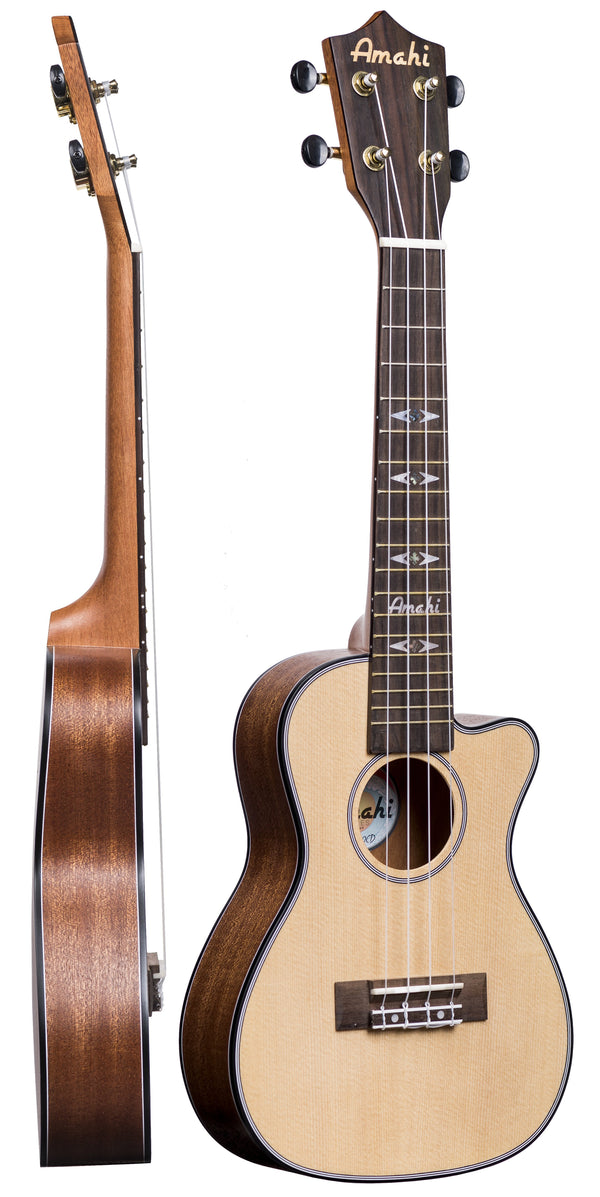 Amahi UK220CD Thin-Body Concert Ukulele