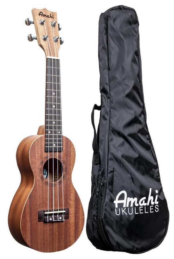 Amahi UK150 Peanut Shaped Soprano Ukulele With Bag