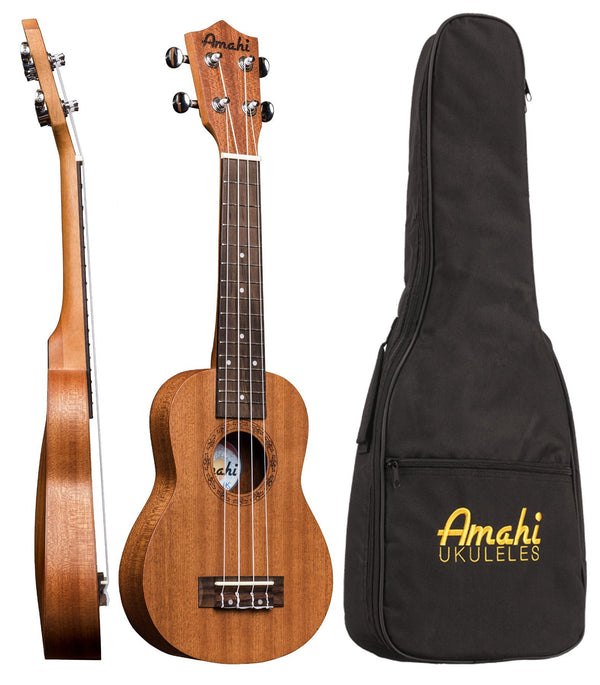 Amahi UK210KK Mahogany Slim Ukulele with Bag
