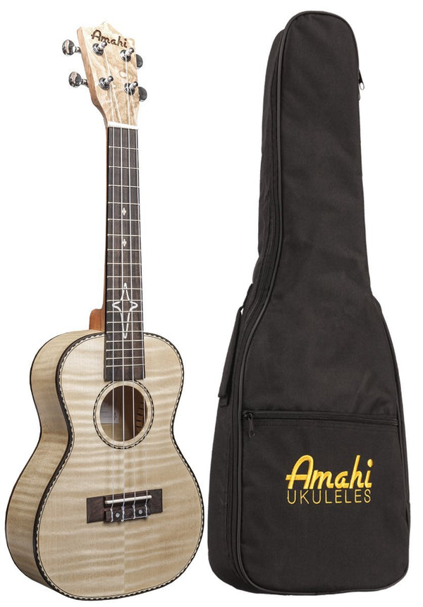 Amahi UK550C Concert Ukulele Flamed Maple