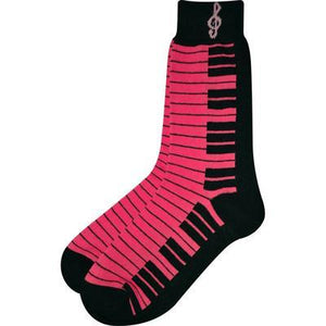 Socks - Neon Pink and Black Keyboard