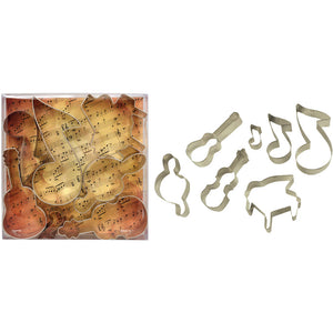 Music Themed Cookie Cutter Set  - 7 pieces