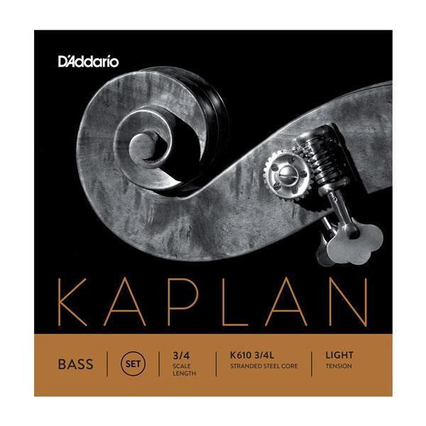 Kaplan Bass String Set, 3/4 Scale, Light Tension
