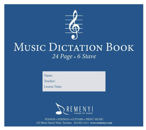 Dictation Book, 6 Stave, 24 pages