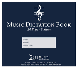 Dictation Book, 8 Stave, 24 pages