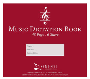 Dictation Book, 6 Stave, 48 pages