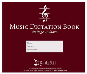 Dictation Book, 8 Stave, 48 pages