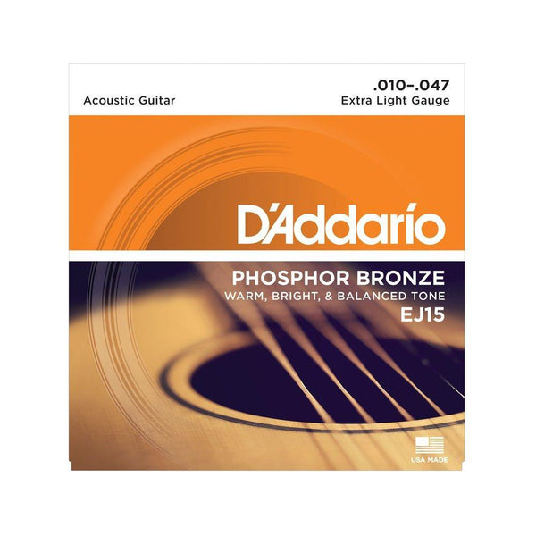 D'Addario Phosphor EJ15 Bronze Extra Light