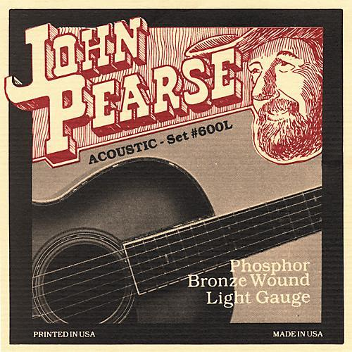 John Pearse JP600L Acoustic Guitar Strings, Phosphor Bronze, Light 12-53