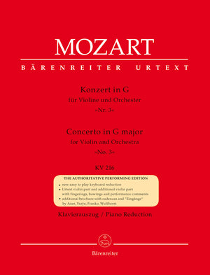 Mozart - Concerto for Violin and Orchestra no. 3 in G major K. 216