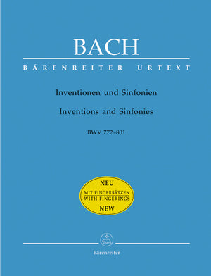 Bach - Inventions and Sinfonias BWV 772-801 (With Fingerings)