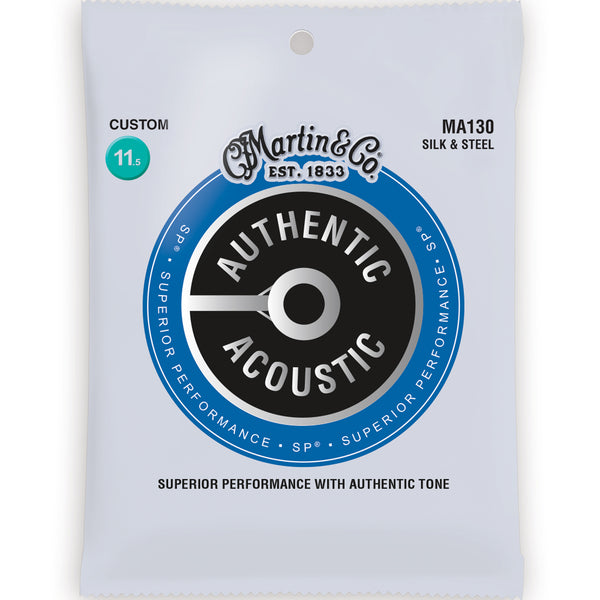 Martin MA130 Authentic Silk & Steel Guitar Strings