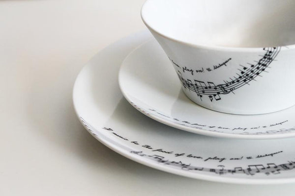 "Dinnerware ""Tafelmusik"" – set of 3 pieces"