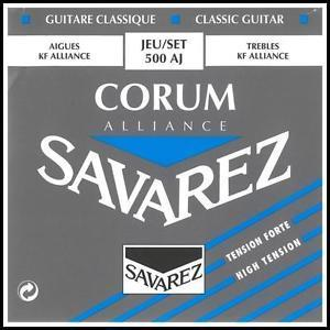 Savarez Corum Alliance 500AJ Classical Guitar Strings, High Tension