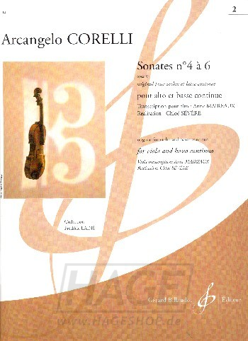Sonatas Op. 5 No. 4 — 6 for viola and basso continuo