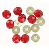 Top Brass Glass Beads 6mm