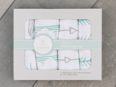 Organic Washcloth Set - Tahoe