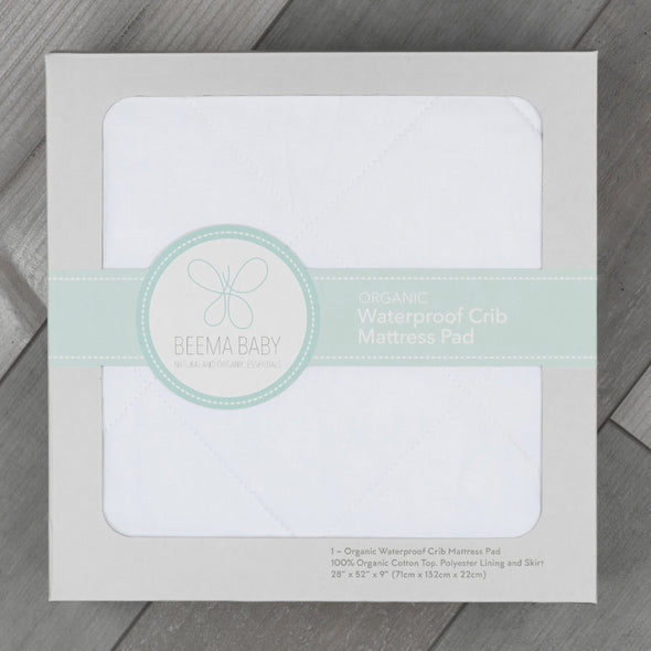 Organic Waterproof Crib Mattress Pad