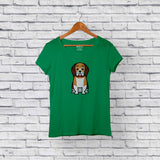 Best beagle green t-shirt for sale