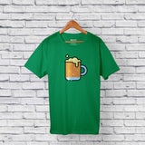 cootd beer t-shirt green