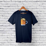 cootd beer t-shirt blue