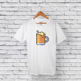 cootd beer t-shirt white