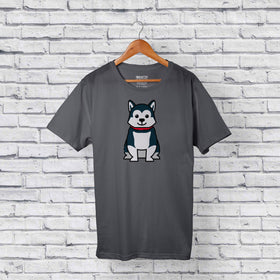 Best Husky Dog Gray T-Shirt Design Online