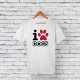 I Love Dogs T-shirt Design Online